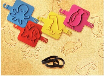 Free Shipping 4pcs/lot Cute Cartoon Baby Kids Sea Beach Seal Stamper Children Beach Sand Drawing Toys Baby Gifts/Christmas gift(China (Mainland))