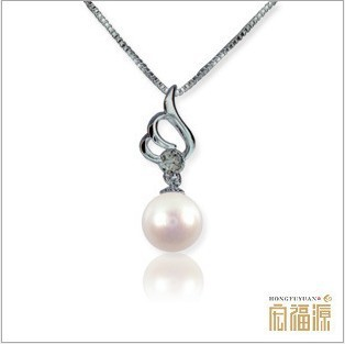 classic 925 sterling silver necklace with freshwater pearl pendant