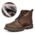 Winter warm In older men shoes leather genuine elderly snow boots with fur sending father shoes
