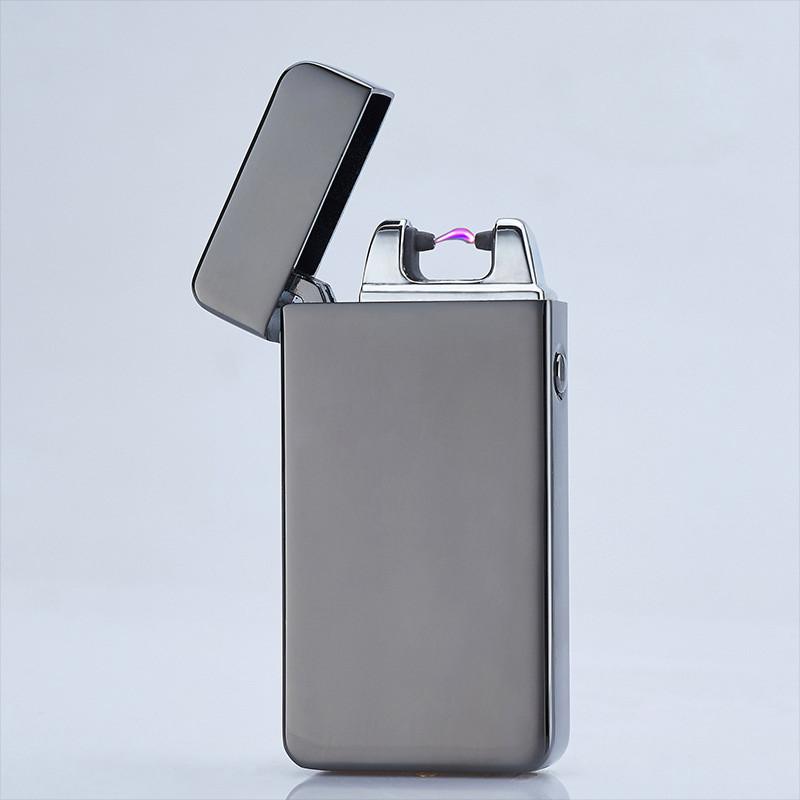 ถูก ไฟแช็กอุปกรณ์การสูบบุหรี่ไฟฟ้าArcลมแบบชาร์จแอลอีดีไม่มีก๊าซโลหะชีพจรUSBไฟแช็