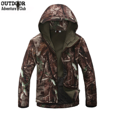 Lurker Shark Skin Soft Shell V4 Outdoors Military Tactical Jacket Men Waterproof Windproof Coat Hunt Camouflage Army Clothing(China (Mainland))