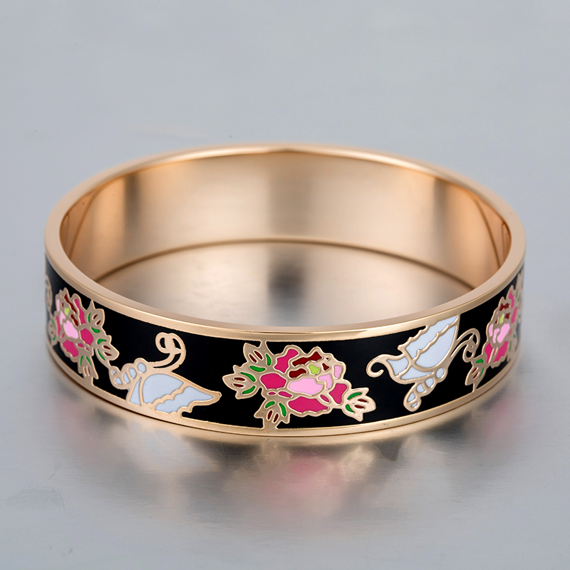 Carter Love Bracelet Enamel Bracelets for Women Stainless Steel 18K Gold Plated Vintage Jewelry Colorful Fashion Party Bangles(China (Mainland))