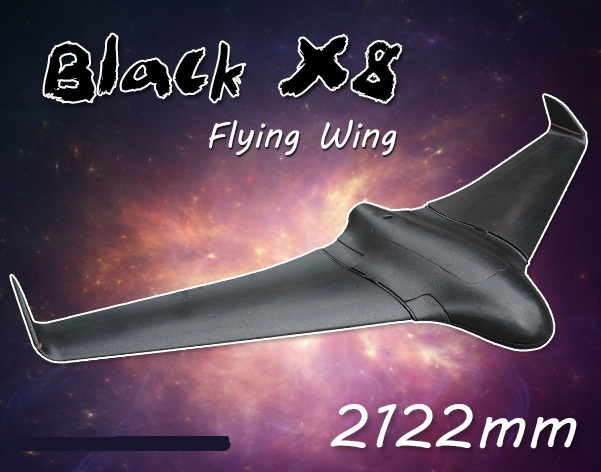New arrival x8 white flying wing 2 meters 12 , x-8 fpv epo large flying wing