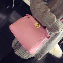 2016 Women's Mini Tote Lock Bag Girls Candy Color Woman Handbag Ladies Famous Brand Small Shoulder bags