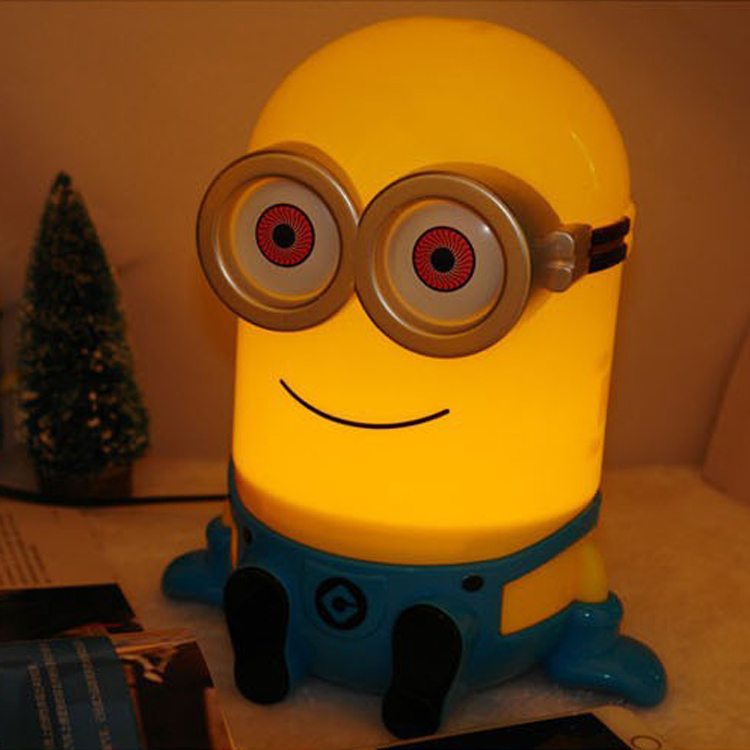 2015 Fashion Minions LED Children Light Desk Lamp With Piggy Bank Table Lamps For Living Room Bedroom Study 220V E14(China (Mainland))
