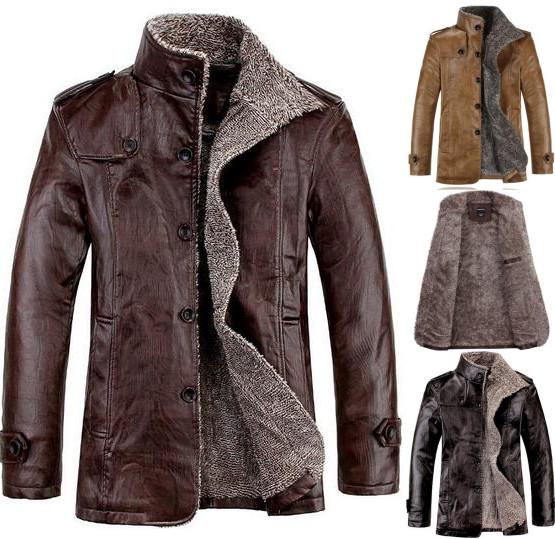 Suede leather winter coat – Modern fashion jacket photo blog