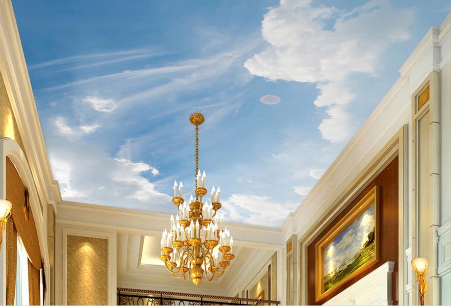 3D photo wallpaper custom ceiling murals wallpaper Blue sky sunlight 3d ceiling wallpaper Non-woven 3d wallpaper bedroom(China (Mainland))