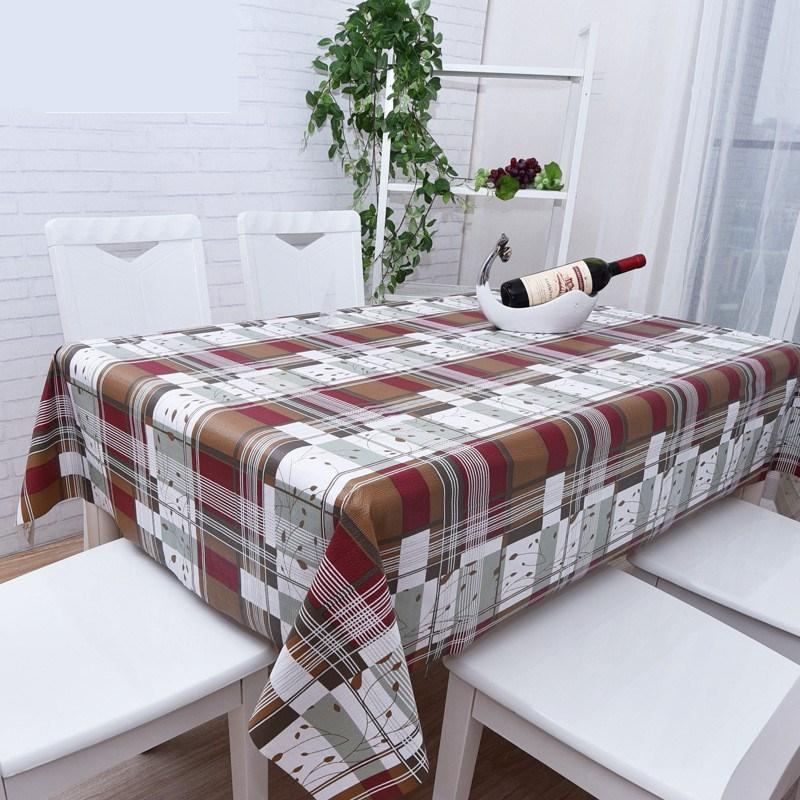 Lattice Print Table Cloth Rectangular Oilproof Table Cover Home Wedding Decor Mordern Plastic Desk Table Decor Tablecloth(China (Mainland))