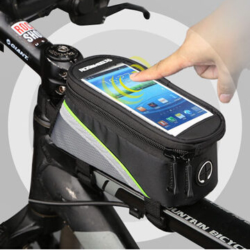 Roswheel Mountain Bike Frame Pannier MTB Cycle Front Tube Phone Touch Bag Para Bicicleta Bicycle Basket Cycling Bag Accessories(China (Mainland))