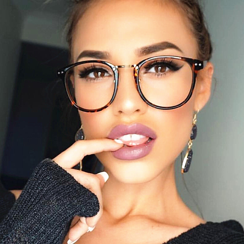 sexy rivet clear glasses myopia frame clear lens glasses women men spectacle frame clear lens optical