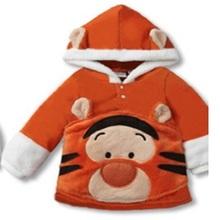 Character Boys Hoodies Kids Coats Hooded Jackets Children Hoody Sweatshirts Tiger Kids Sport Suit(China (Mainland))