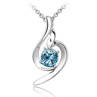 Maxi Necklace Limited Sale Collier Collares Sunshine 2016 925 Sterling Necklace Chain Ocean Pendant Wedding Jewellery Statement(China (Mainland))