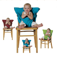 Brand Portable Baby Kids Chair Child High Chairs Seat Belts Safety Belt Folding Dining Feeding(China (Mainland))