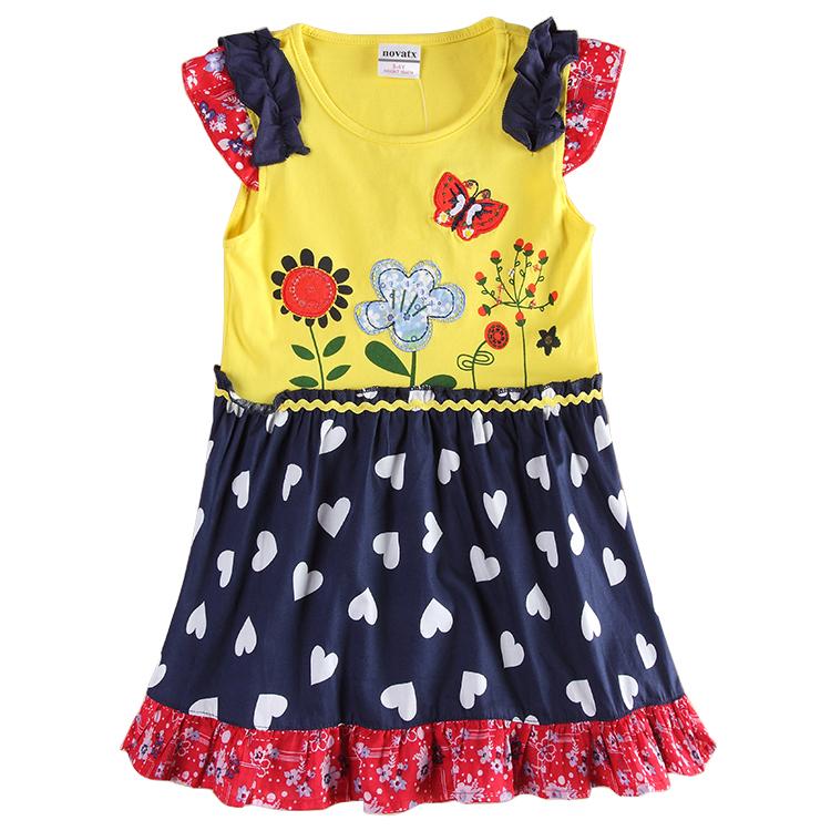 latest kid dresses designs nova kids wear Girls frocks children clothes summer party dresses princess dresses sleeveless dresses(China (Mainland))