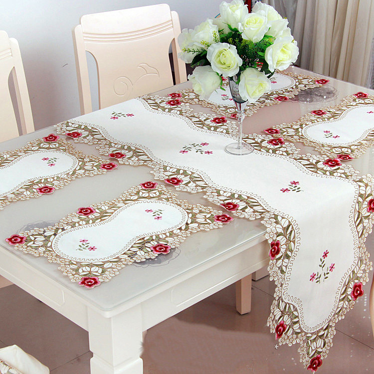 Decoration Table Runners Dining Room Embroidered Runner Placemat