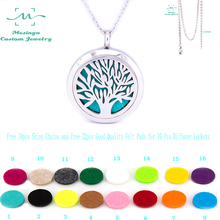 Buy Shiny Chain! 10pcs mesinya tree life Aromatherapy/Essential Oils surgical Stainless Steel Diffuser Locket Necklace for $38.50 in AliExpress store