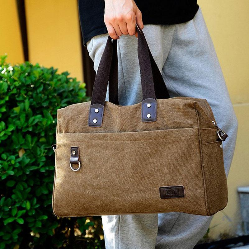 NEW High Quality Men Canvas Bag Big Capacity Travel Bags Outdoor Sports Handbag Vintage Shoulder Bag Tote A681(China (Mainland))