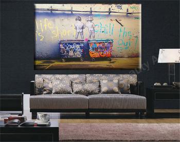 Жизнь коротка БЭНКСИ холст картины настенные панно для гостиной настенные украшения искусства фотографии плакат Без Рамы