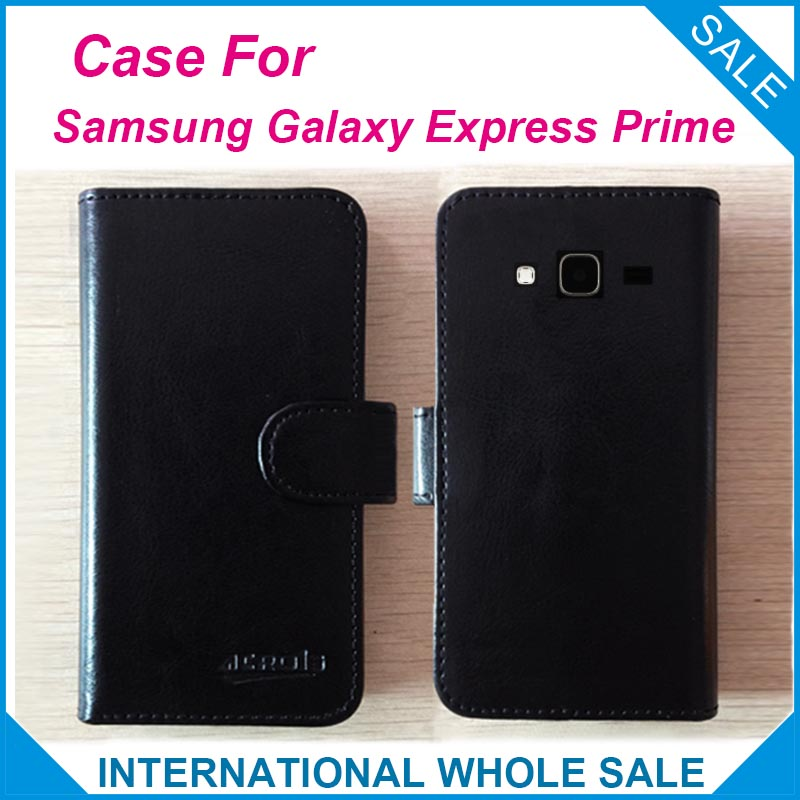 Hot!! For Samsung Galaxy Express Prime Case, 6 Colors High Quality Leather Exclusive Cover For Samsung Galaxy Express Prime(China (Mainland))