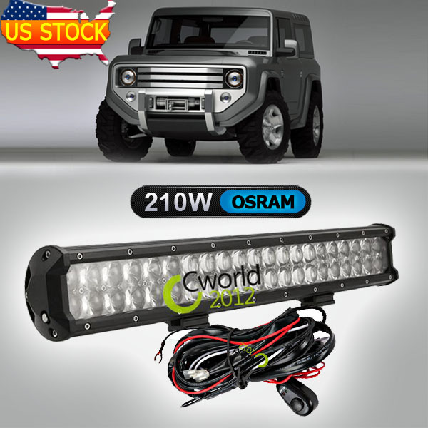 20 Inch 210W Osram Off Road LED Work Light Bar Spot Flood Light Combo 4WD Auto ATV Truck 4x4 Car Roof Bumper AUX Driving Lamp(China (Mainland))