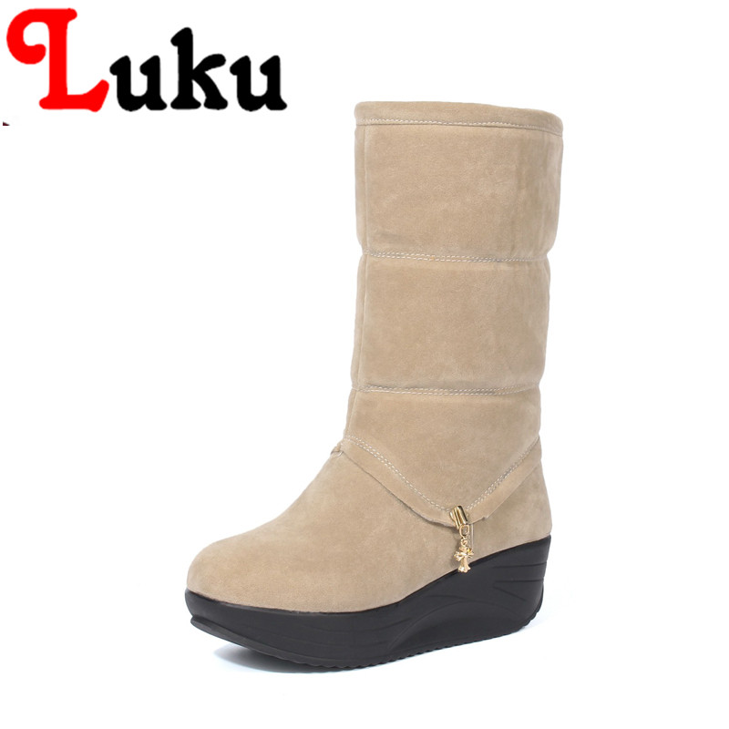 NEW ARRIVA big USA size 9 10 11 12 13 14 lady snow boots high quality plus inside warm winter shoes Free Shipping(China (Mainland))