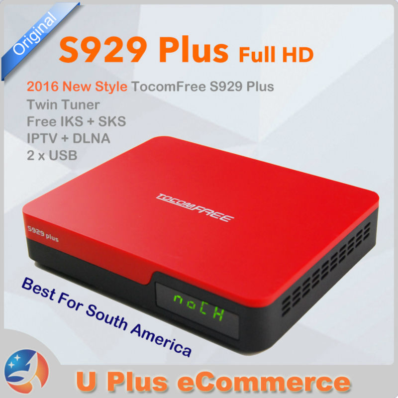 2016 New Style TocomFREE S929 Plus Digital Satellite Receiver FTA Full HD DVB-S/S2 IKS+SKS IPTV South America top selling(China (Mainland))