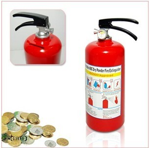 Piggy bank personalized fire extinguisher novelty toy gift lovely piggy bank(China (Mainland))