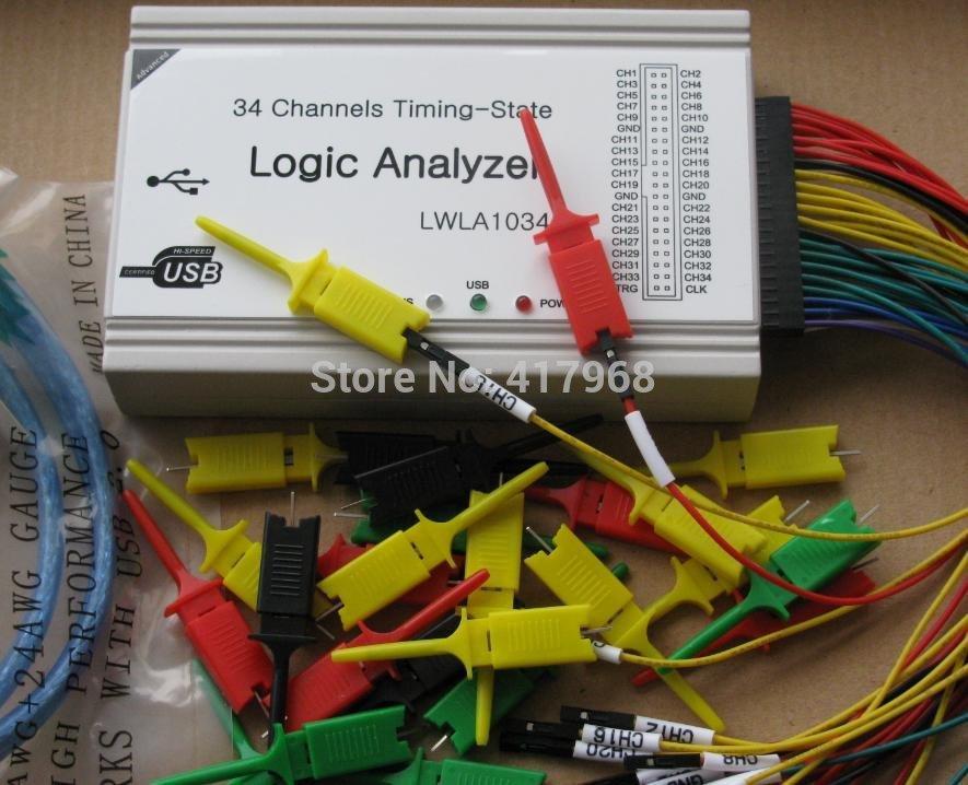 LA1034  New arrival ! Powerful 100MHz 34 channelsLogic Analyzer ,Timing-State Logic Analyzer