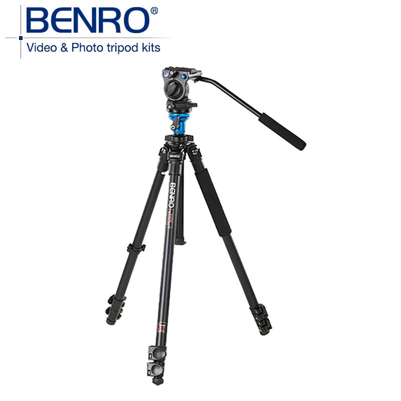 BENRO A1573FS2 Pro Video Camera Tripod aluminum Tripod S2 Video Head QR4 QR PlatePan Bar Handle BS03,Deluxe Carry Case(China (Mainland))