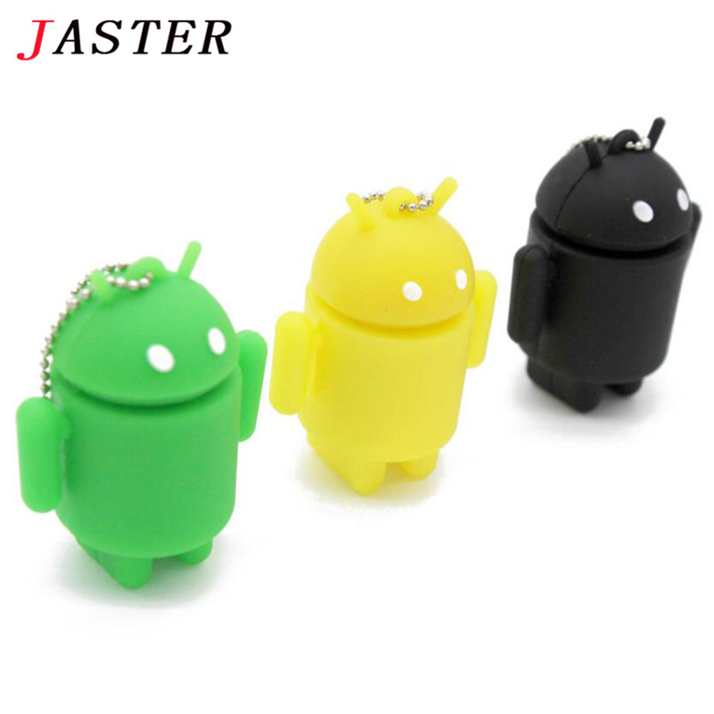 JASTER Mini Android Robot Usb Flash Drive pendrive 4GB 8GB 16GB 32GB iRobot Ava Lovely Gift Full Capacity cartoon memory stick(China (Mainland))