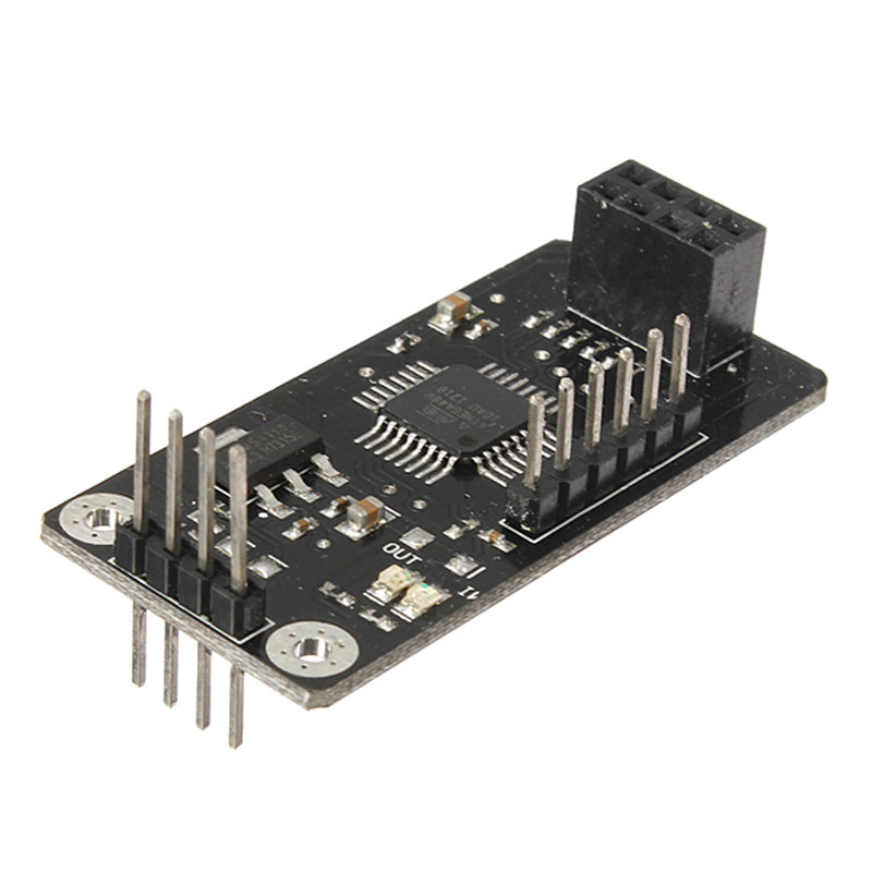 ATMEGA48 With NRF24L01 Chip Wireless Shield Module SPI To IIC I2C TWI Interface 44 x 23 x 12mm(China (Mainland))