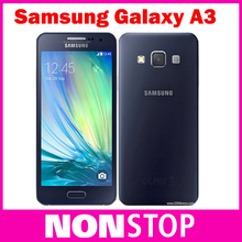 Original Samsung Galaxy A3 Quad-Core Android 4.4 OS 4.5 Inch 1GB RAM 8GB ROM 4G 8.0MP Camera Mobile Phone & Free Shipping(China (Mainland))