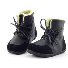 Tamaño de LA UE 22-33 2016 Nuevo Chico Botas de Cuero Niños Niño Invierno Zapatos Calientes de la Felpa Para Niños Con Cordones Martin Bota de la Nieve CS562(China (Mainland))
