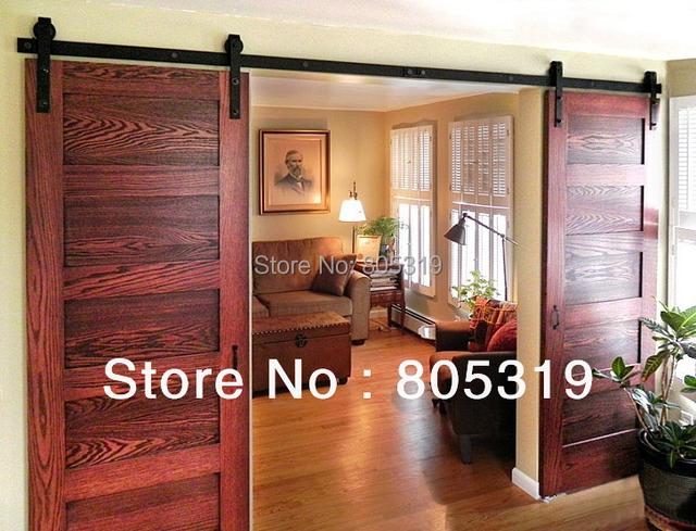 Doble corrediza puerta de granero de servicio pesado for Puertas tipo granero