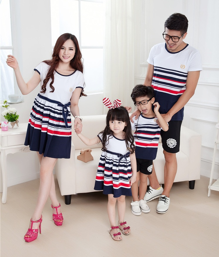 [해외]Striped family set Parent-Child set clothes for fath..