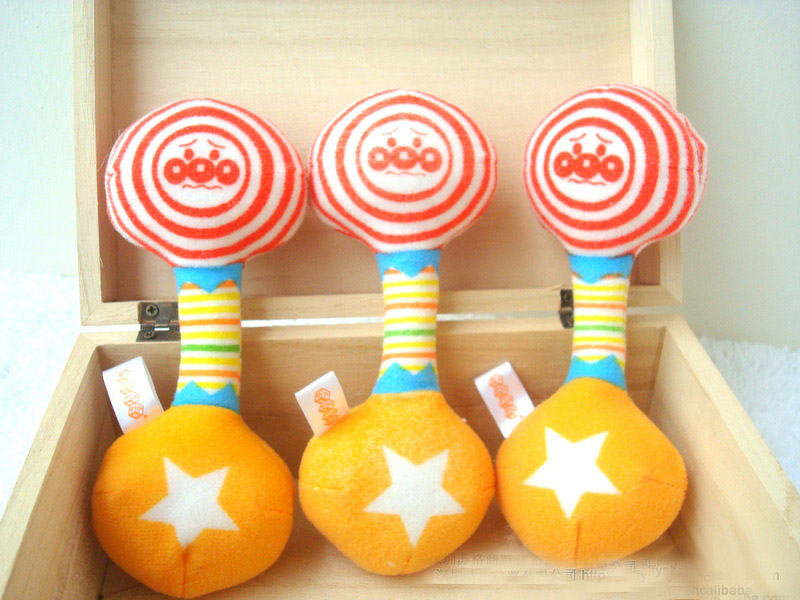 Free shipping Cloth handbell baby educational toys puppet bed bell rattles,(China (Mainland))