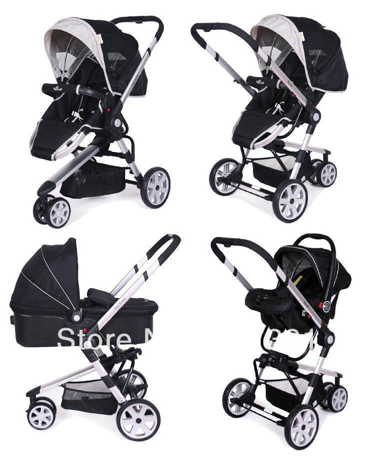 2015 New Style Infant Carriage 3 In 1 With Car Seat ,Bassinet For Baby In Different Age Range 3 Colors For Option Baby Stroller(China (Mainland))