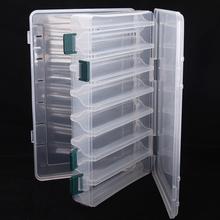 plastic portable fishing tool accessory box,27cm*18cm*4.7cm,Fishing Lures Hooks Baits Plastic Tackle Box BX-009-T Trulinoya