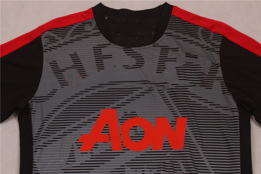 Best selling new football shirt Thai quality 2015-2016 Man U home soccer jersey(China (Mainland))