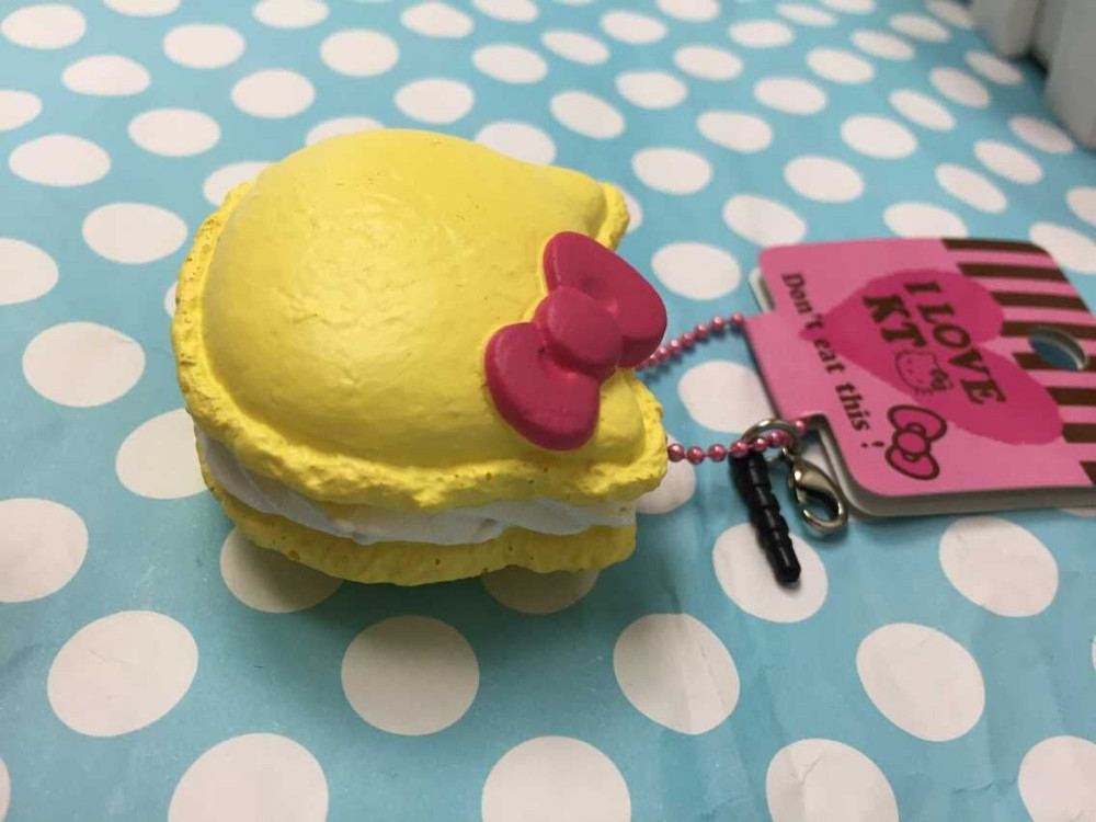 Squishy Toys Review : original package rare hello kitty Macaron Squishy cell phone Strap Charm 12pcs/lot 2 colors ...