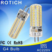 Buy Mini G4 LED Lamp 3014 LED Bulb 2W 3W 5W AC220V LED G4 SMD Light Dimmable 360 Beam Angle Chandelier Lights Replace Halogen Lamps for $1.07 in AliExpress store