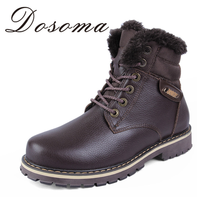 Russian style men winter shoes warmest fur boots handmade genuine leather men snow boots Special plus size 37~50(China (Mainland))
