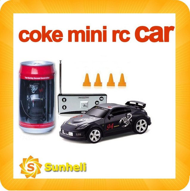 fast shipping rc car 1:63 mini coke can toy  Remote Control R/C Car