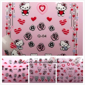 wholesale Valentine's Day love Nail Art Stickers beauty decoration holidays nail decal wraps 500packs/lot free shipping