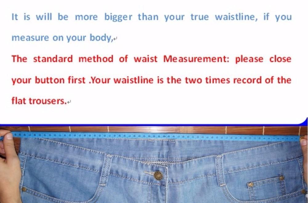 Скидки на Бесплатная доставка летние Мужские плюс размер жировых брюки свободные прямые длинные джинсы мужская одежда утолщение Полная Длина брюки размер 28-48