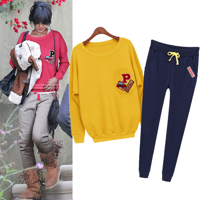 Autumn 2015 Europe and United States Woman's Sets Модный Fleece Thicken Pullover ...