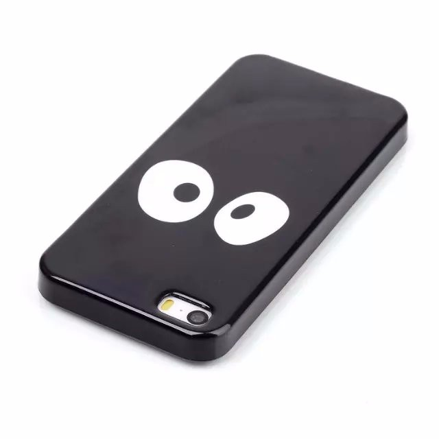 5/5s Capinha For iPhone 5 5S Ultra Thin Black Soft TPU Phone Case Back Cover Lion Panda Fundas Coque For i Phone 5 S Capinha