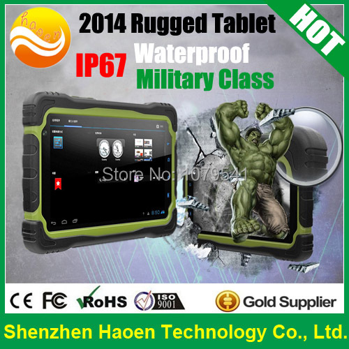 Military Class Hugerock T70H Quad Core Rugged Tablet PC with 7 Inch Sunlight Readable Screen 16GB ROM 8M Camera Android 4.2 OS(China (Mainland))