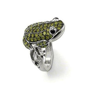 New! Wholesale Free shipping 925 sterling silver jewelry / 925 silver frog ring size 8 TR13