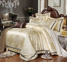 Home textile bedding set jacquard luxury cotton bed set bed cover sheet 4pcs/set duvet set bed clothing duvet cover discount(China (Mainland))